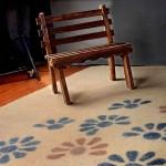 فرش نمدی طرح پرگل